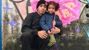 Milton y su hija.