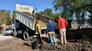 Realizan trabajos preventivos en la zona de Puerto Sánchez