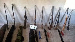 Desarmados. La Policía les incautó las armas por falta de documentación.