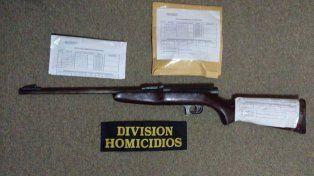 Armas. Secuestraron una carabina calibre 22 en la casa de Díaz.