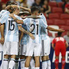 Argentina goleó a un débil y desconocido Singapur