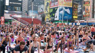 El Día Mundial del Yoga en New York.