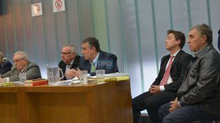 Comprometidos.La fiscal pidió condena y perpetuidad para ocupar cargos públicos. Foto UNO Juan Manuel Hernández.