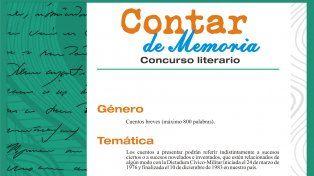 Se lanza el concurso literario Contar de Memoria