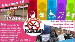 Una movilización en Paraná protestará contra la quita de pensiones a discapacitados