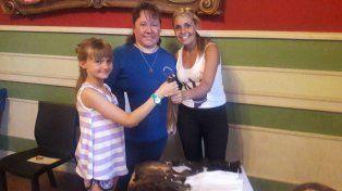 Crespense guardó su pelo durante 45 años y lo donará para una causa solidaria