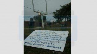 Volvieron a vandalizar el playón del polideportivo Fernando Pierola