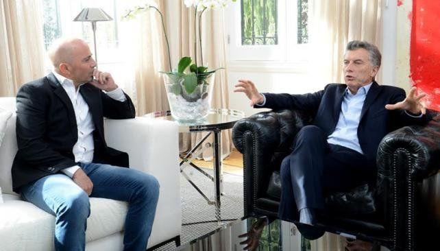 Sampaoli estuvo en la Quinta de Olivos y charló de la selección con Macri