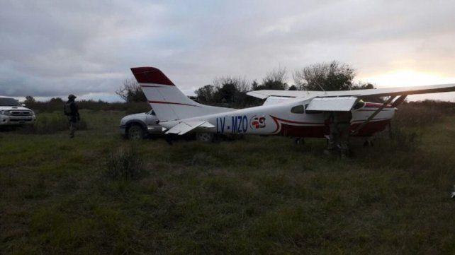Avión recuperado de los narcos. La aeronave ya fue entregada a la Policía de Entre Ríos.