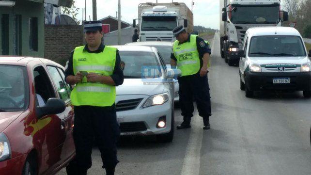 El oficial Matías Blanco trabaja en la Dirección de Prevención y Seguridad Vial