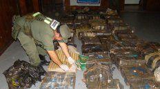 Golpe. El cargamento secuestrado por Gendarmería tenía un valor multimillonario en el mercado.