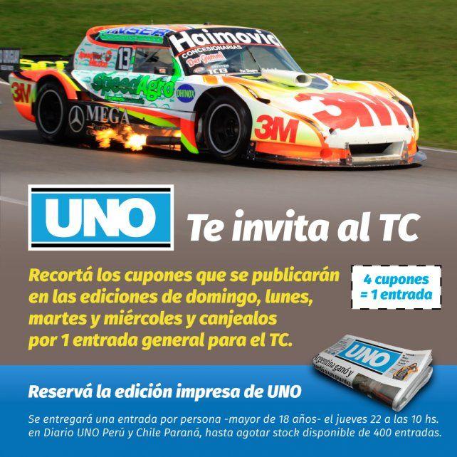 Diario UNO te invita a ver el TC en Paraná