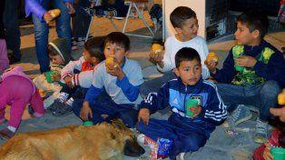 Los niños de Concordia en una de las actividades que organizó la Fundación Conased.