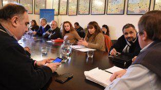 Estuvieron presentes Oscar Balla; Gustavo Labriola, Germán Grané y los representantes de ATE, Oscar Muntes y de UPCN, José Allende.
