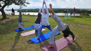 Esta foto fue tomada en 2015 por el fotógrafo de UNO Juan Manuel Hernández en la previa de la jornada Yoga para Todo el Mundo.