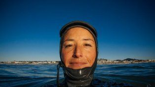 La fotógrafa aseguró que dentro de agua perdía el control de la situación y que eso la ayudó.