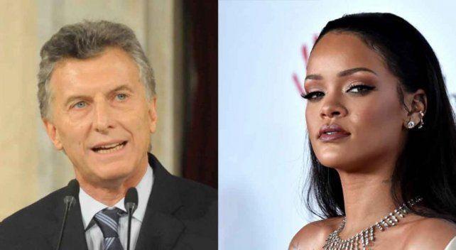 Mauricio Macri le contestó a Rihanna con un guiño a Esteban Bullrich