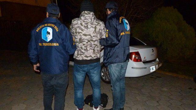 Detuvieron a un hombre que intentaba ingresar con droga a Paraná