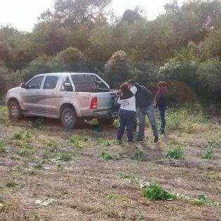 Familiares del anciano desaparecido en Fidanza están en el lugar donde hallaron restos humanos