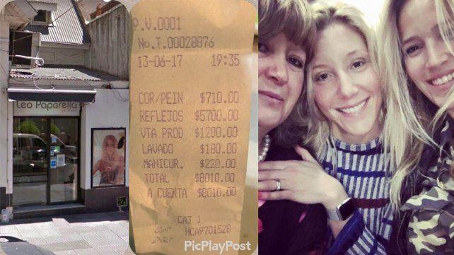 A la mamá de Luisana Lopilato le cobraron 8 mil pesos en una peluquería