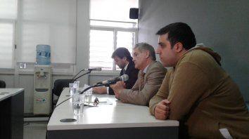 Libre. Tinta, acompañado de su abogado defensor Hugo Gemelli, en la audiencia de ayer.