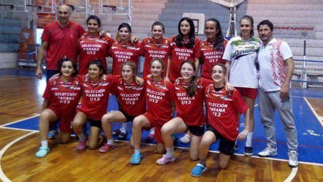Paraná U13. En el estadio de Juventud Unida