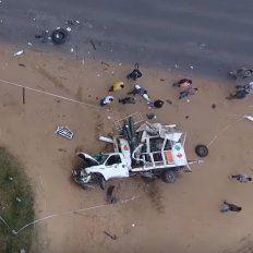 Video: Así quedaron dos camiones al chocar de manera frontal en Concordia