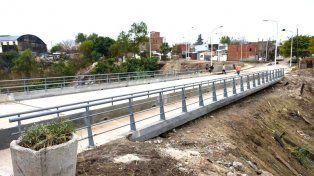 Así quedó el puente sobre calle Moreno que inaugurarán este jueves