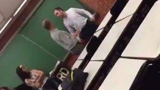 Un profesor universitario agredió a un alumno: Te quiero re contra cagar a trompadas