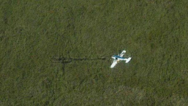 La avioneta apareció en los Esteros del Iberá en Corrientes.