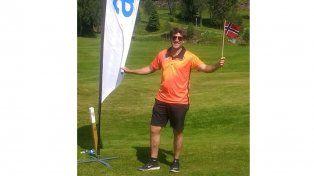 Con la bandera. En Noruega el entrerriano tuvo una muy buena producción en un torneo que repartió 500 puntos.