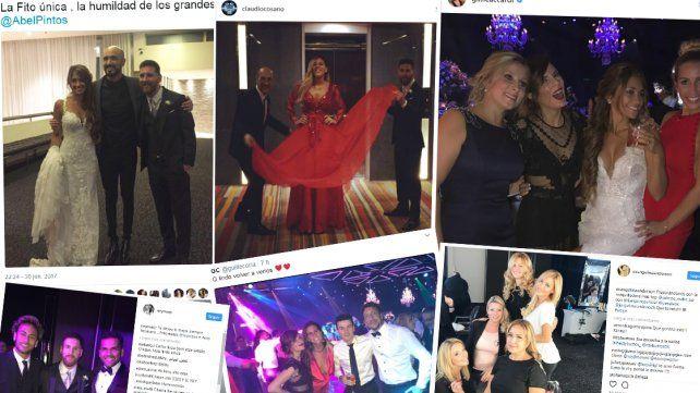 Las fotos que los invitados subieron a las redes desde el casamiento de Messi