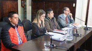 El primer juicio. Báez (derecha) fue condenado y Ruiz Díaz (izquierda), pidió la revisión. Foto: Javier Aragón.