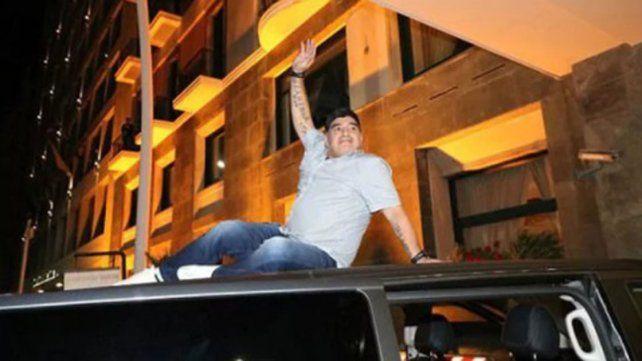 La euforia de Maradona