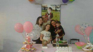 Junto a familiares y amigos Saritah celebró la vida