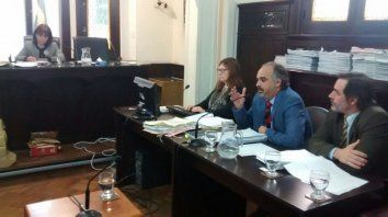 Alegatos. El fiscal Candioti, reclamó al tribunal una pena alta. Foto: Javier Aragón.