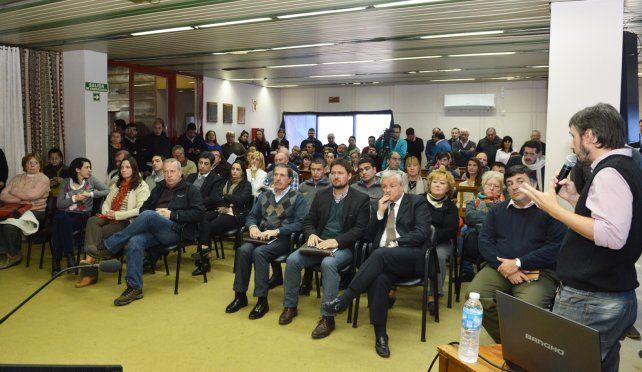 La presentación del portal en Concepción del Uruguay.