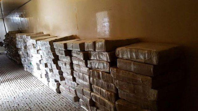 Operación Frigoverde. En Berazategui se localizaron cinco toneladas de marihuana. Foto: 03442