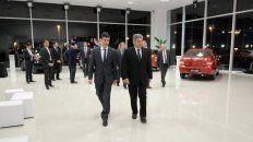 Ramiro Reiss, presidente de Haimovich Paraná y Steve St Angelo, CEO de Toyota Motor Corporation para América Latina y el Caribe.