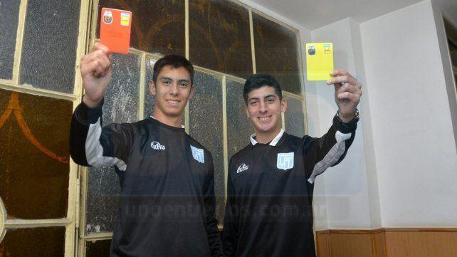 Mainero y Pitassi sueña a lo grande. Sus meta es poder llegar a ser árbitros nacionales. Foto UNO Mateo Oviedo