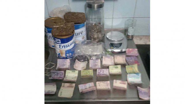 Allanamiento en Paraná: Secuestraron droga y dinero