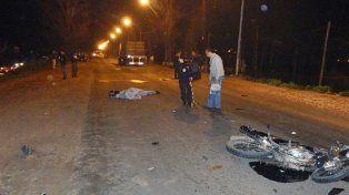 Murió un motociclista y su acompañante resultó herido
