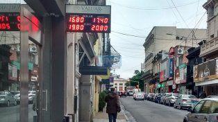 Cierre. La divisa en Paraná.