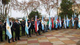 En el acto participaron representantes de las fuerzas de seguridad.