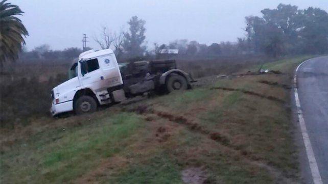 Ruta 39. El incidente vial se registró en el ingreso a Lucas González.