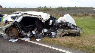 Alta velocidad. Testigos indicaron a la Policía que el auto iba muy fuerte en la ruta.