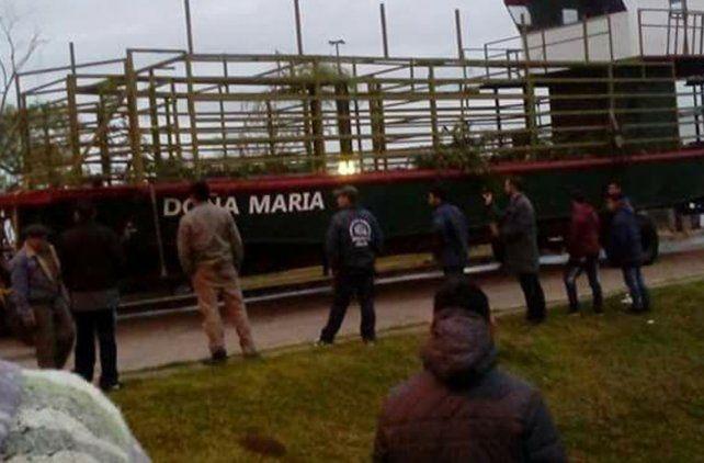 Doña María llegó al río Paraná. Foto Gentileza Nicolás Omar Ríos.
