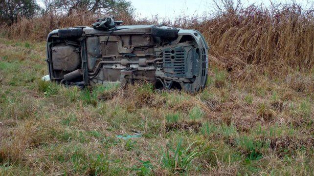 Cuatro personas resultaron lesionadas en un accidente de tránsito