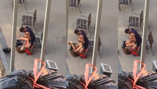 España: dos parejas fueron sorprendidas teniendo sexo en la vía pública y explotaron las redes