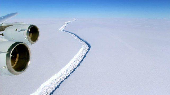 Se desprendió de la Antártida un iceberg de 6.000 kilómetros cuadrados